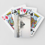 winter barn bicycle poker cards