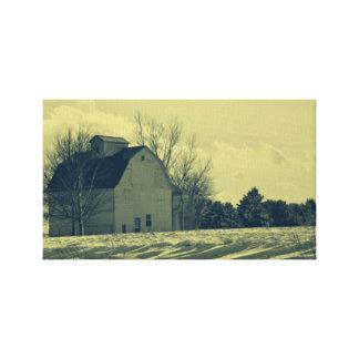 Winter Barn Canvas Prints