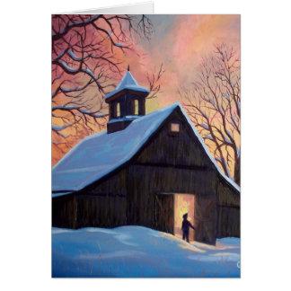 Winter Barn Card