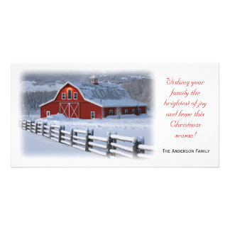 Winter Barn Photo Card