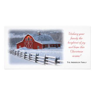 Winter Barn Photo Card