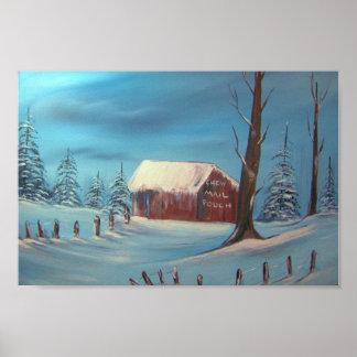 Winter Barn Print