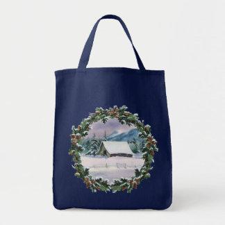 WINTER BARN & WREATH by SHARON SHARPE Tote Bag
