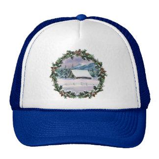 WINTER BARN & WREATH by SHARON SHARPE Trucker Hat