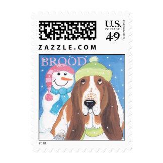 Winter basset stamp