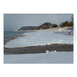 Winter Beach Greeting Cards