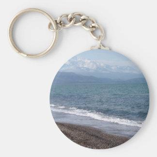 Winter Beach Keychain