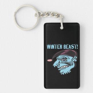 Winter Beast 2 Rectangular Acrylic Key Chain