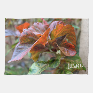 Winter Beautiful Flowers Kitchen Towel