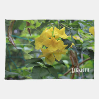 Winter Beautiful Flowers Towel