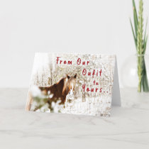 Winter Belgian Horse Outfit Holiday Greetings Card