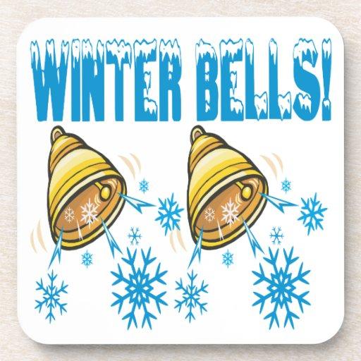 Winter Bells Beverage Coaster