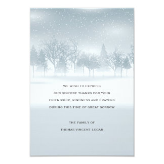 Winter Bereavement Thank You Card