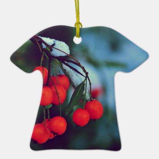 Winter Berries Ceramic Ornament