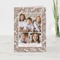 Winter Berries Ecru Christmas Holiday Folded Card