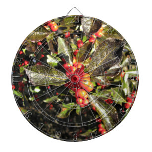 Winter Berries Green Leaves Sunny Fall Day Dart Board