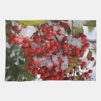 Winter Berries. Kitchen Towel