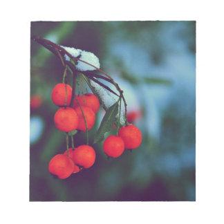 Winter Berries Notepad
