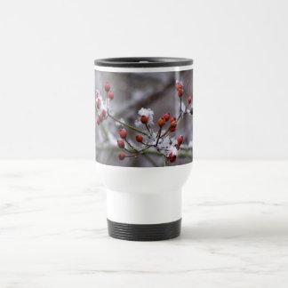 Winter Berries Travel Coffee Mugs