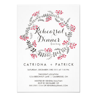 Wedding Rehearsal Gifts For Parents : Winter Rehearsal Dinner Invitations & Announcements Zazzle