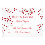 Winter Berry Holiday Red & White RSVP Invitation
