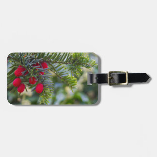 Winter Berry Luggage Tags