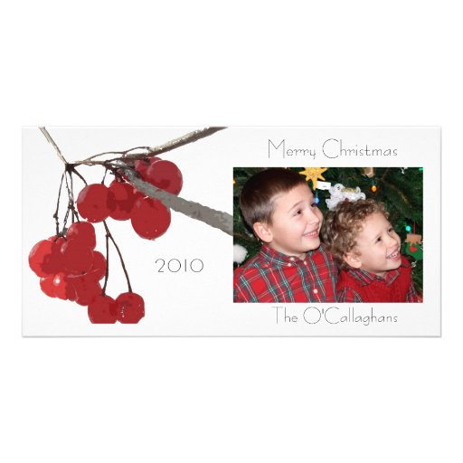 Winter Berry - Photocard Personalized Photo Card