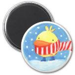winter bird fridge magnet