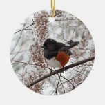 Winter Bird in the Snow Christmas Tree Ornament