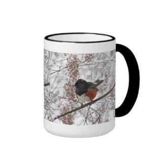 Winter Bird in the Snow Mugs