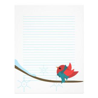 Winter Bird Letterhead