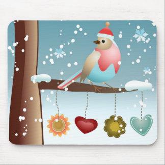 Winter Bird Mouse Pad