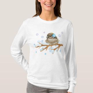 Winter Bird on snow Branch T-Shirt
