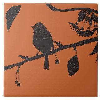 Winter Bird Photo Tile / Trivet