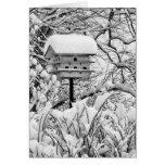 Winter Birdhouse Greeting Cards