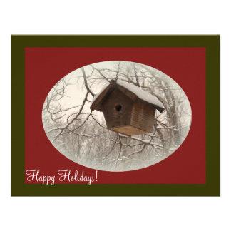 Winter Birdhouse Personalized Invite