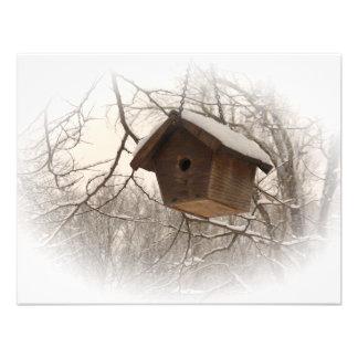 Winter Birdhouse Personalized Invitation