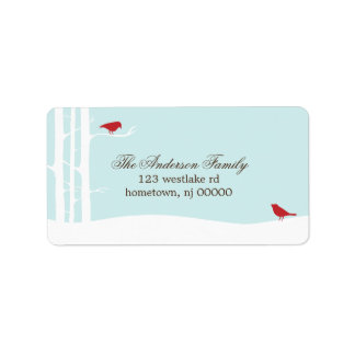 Winter Birds Address Labels