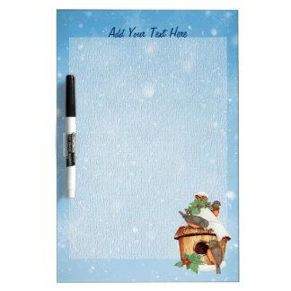 Winter Birds and Birdhouse - Customize Dry-Erase Board