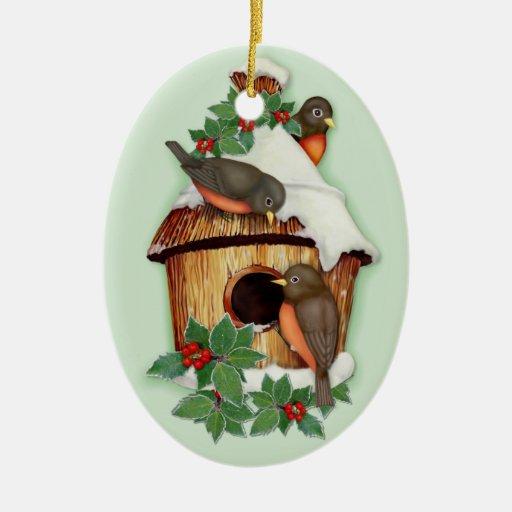 Winter Birds Christmas Tree Ornament
