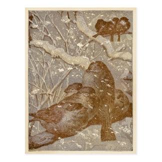 Winter Birds Postcard