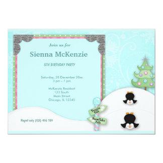 Winter Birthday 5x7 Paper Invitation Card