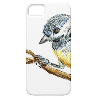 Winter Black Capped Chick-a-Dee, Watercolor Pencil iPhone SE/5/5s Case