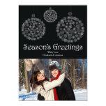 "Winter Black Snowflake Ornament Holiday Photo Card 5"" X 7"" Invitation Card"