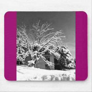 Winter Blast B+W Mouse Pad