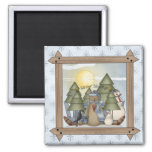 Winter Blessings Country Teddy Bears Magnet