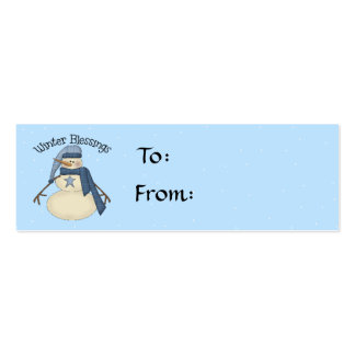 Winter Blessings Gift Tag Double-Sided Mini Business Cards (Pack Of 20)