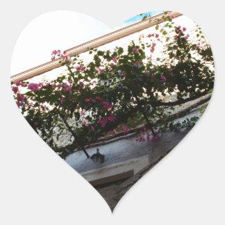 Winter Blooms In Scalea Heart Sticker