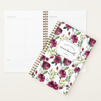 Winter Blooms Personalized Planner