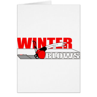 WINTER BLOWS CARD